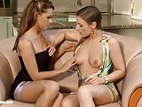 Passionate lesbian sex with Angelina Brill and Carla Cruz on
