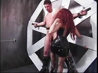 Bound sub gets balls nipples tortured by a...