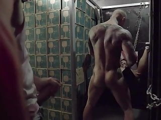Bareback Foursome hunk fuck in bar