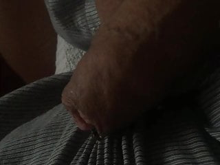 Sperm flowing with fly on cock