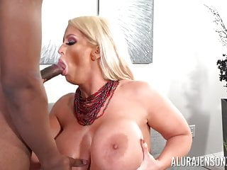 Piping hot mommy Alura Jenson takes hard younger student dark skinned penis