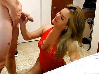 Blowjob her boyfriend...