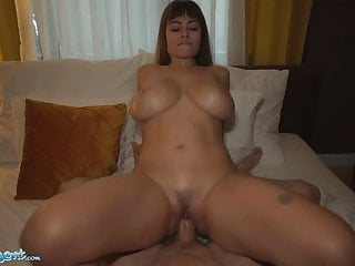 Public Agent – Dominno and her Great Titties Banged in Lodge Room