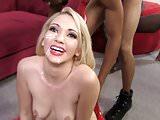 Devil Sara Monroe Gets Gangbanged by Big Black Cocks