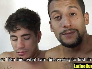 Straight Rugged Latino fucked for the first time