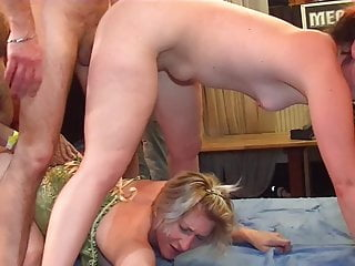 The Swinger Experience Presents Two hot pussies want to ride all the cocks