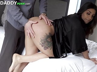 Beautiful thick latina babe fucks daddy such a...