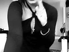 Vanessa Hudgens in black dress