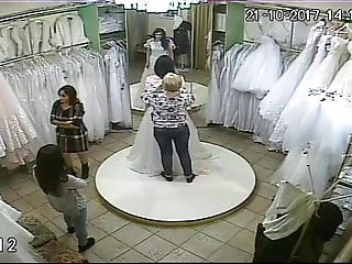 Voyeur vid: spy camera in the salon of wedding dresses 5 (sorry no sound