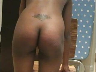 Ebony beauty Cherice spanked and caned