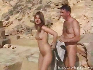 Nudist girl caught accidental erection from guy at...