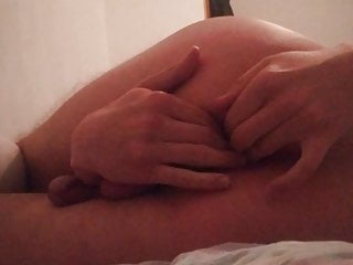 Slave fingers smooth pussy