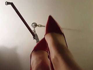 Miss Emma in red high heels-
