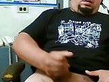 Stocky latin dude with thick cock