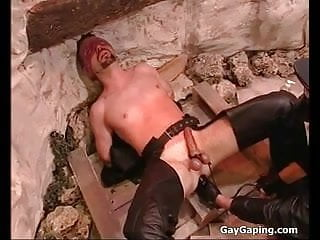 Eyefolded gay slave gets humiliate punished...