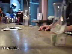 Nipple slips at the bar