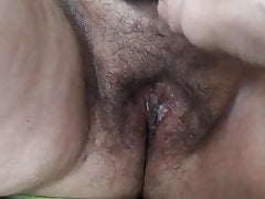 Shaved fat hairy cunt