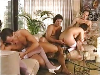 with sexy Groupsex in German MILFS white stockings