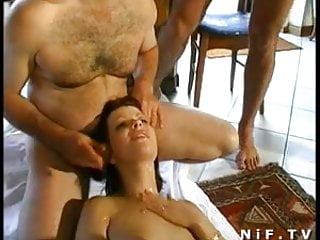 French redhead anal plugged and gangbanged...