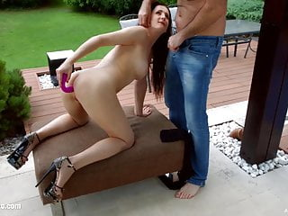 Dripping creampie cum from holes with Emily Ross by All