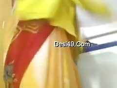 Indian Tamil aunty changes her dress