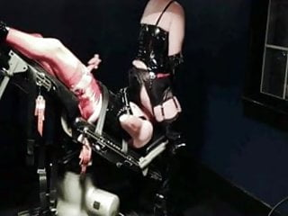 Bbw makes slave wank as he licks her...