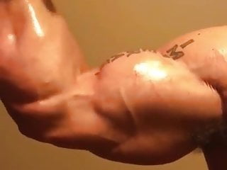 Verbal Muscle Hunk Shows off Body & Huge Cock ( no Cum )