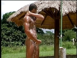 Man Handsome In Brazilian  Solo Hot Shower Going