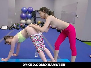 Dyked - Curious Teens Get Horny In The Gym