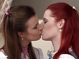 Klara and Faith have gentle lesbian hot sex in Boudoir
