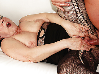 ugly 68 year old mom has rough sex