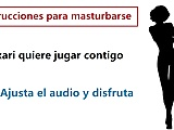Spanish voice tell you how to masturbate. Hikari's voice.