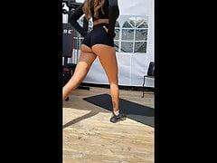 Oceane El Himer (Les marseillais) ass workout spandex