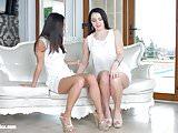 Kittina Cox and Shrima Malati in First time lesbian scene by