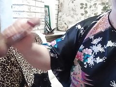 homemade blowjob from a mature plump mother-in-law