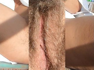 SONJA SORELLA hairy pussy public  show mastrubation terrasse