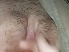 Fingering tight pussy after long fuck