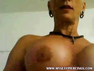 Heavy pierced MILF Heather with 15 pussy rings hanging