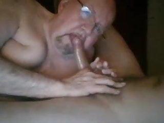 Sexy daddy chub bear blowing grampa grandpa...