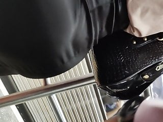 Hidden Camera Spandex Closeup video: Super hot secretary in silk skirt big ass and tits candid