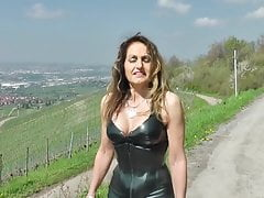 sexy milf in shiny tight leather and high heelsfree full porn