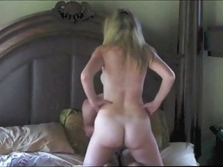 Blonde milf and her black and white lovers